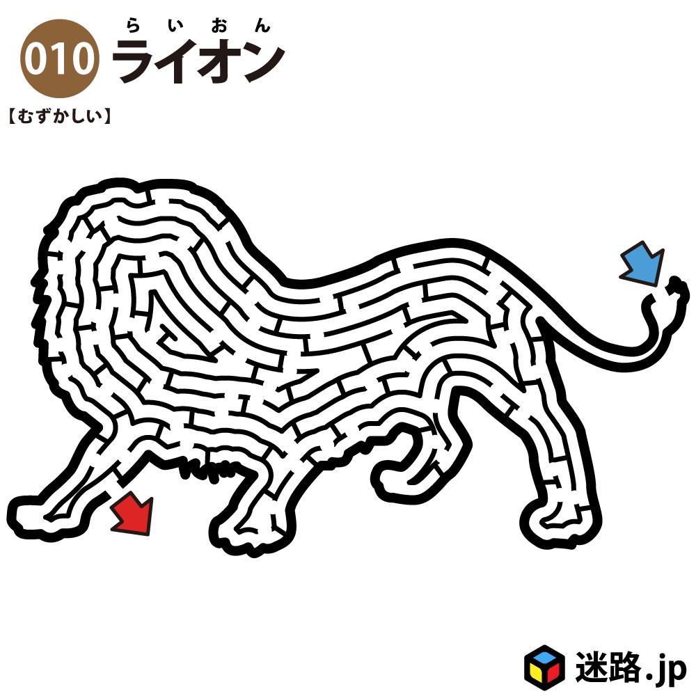 【迷路】ライオン(難しい)