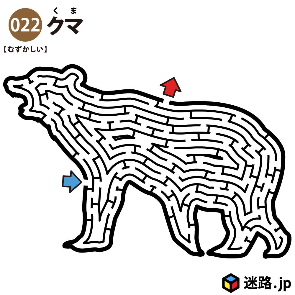 【迷路】クマ(難しい)