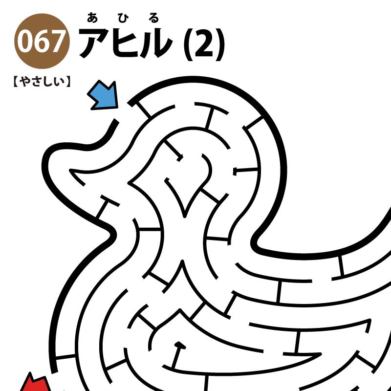 アヒルの簡単迷路(2) アイキャッチ