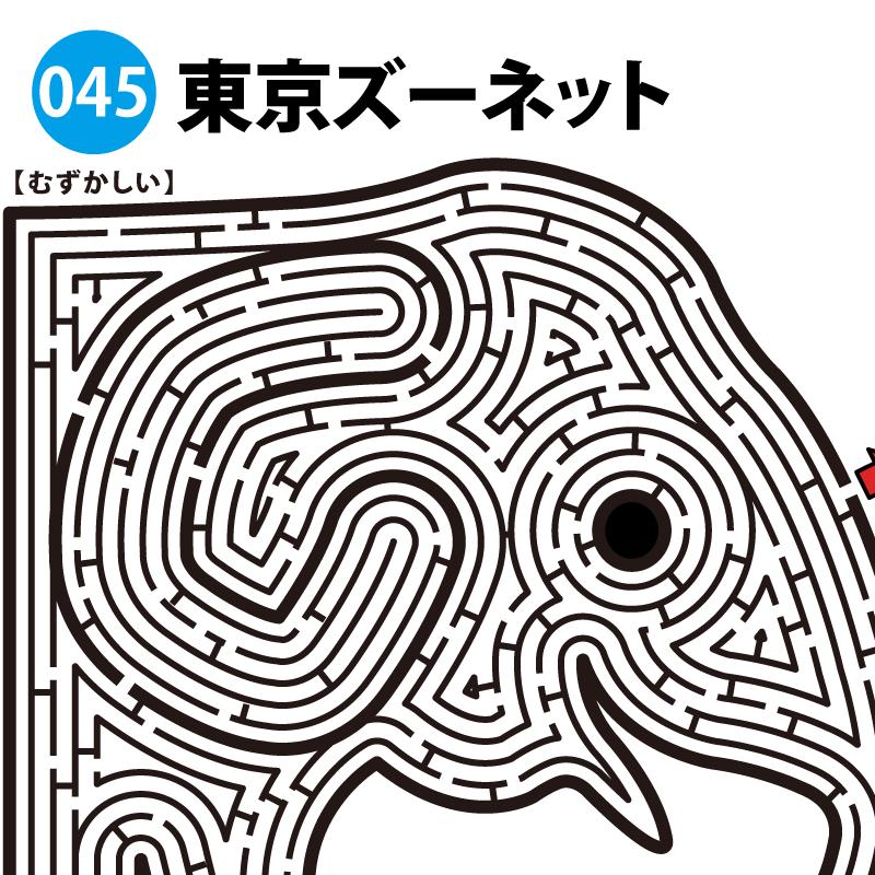 東京ズーネットの難しい迷路 アイキャッチ