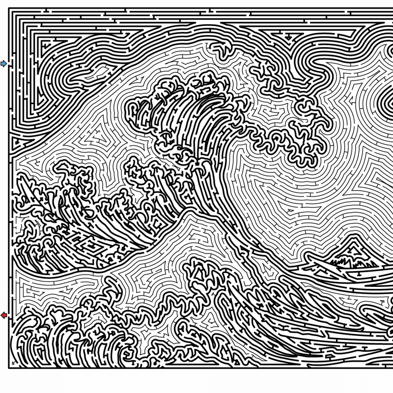 神奈川沖浪裏の迷路 アイキャッチ