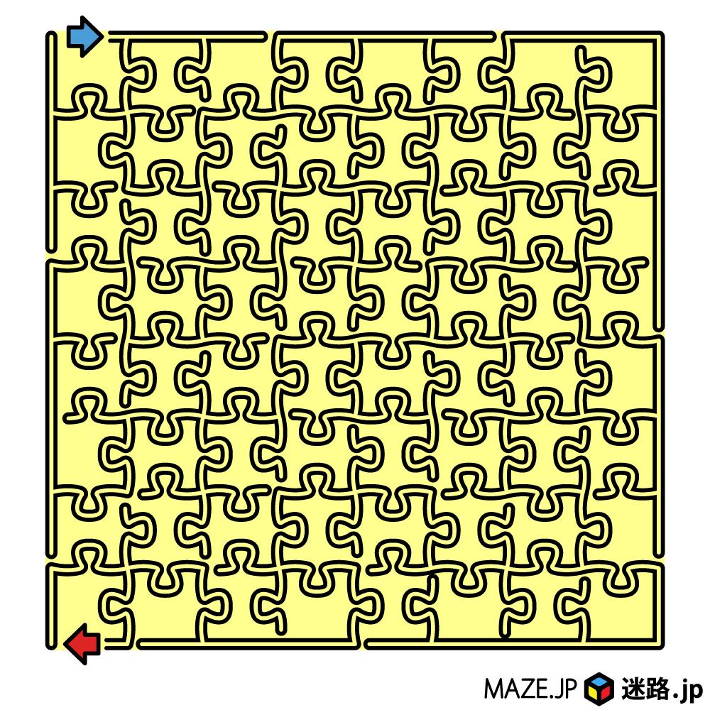 ジグソーパズルの迷路