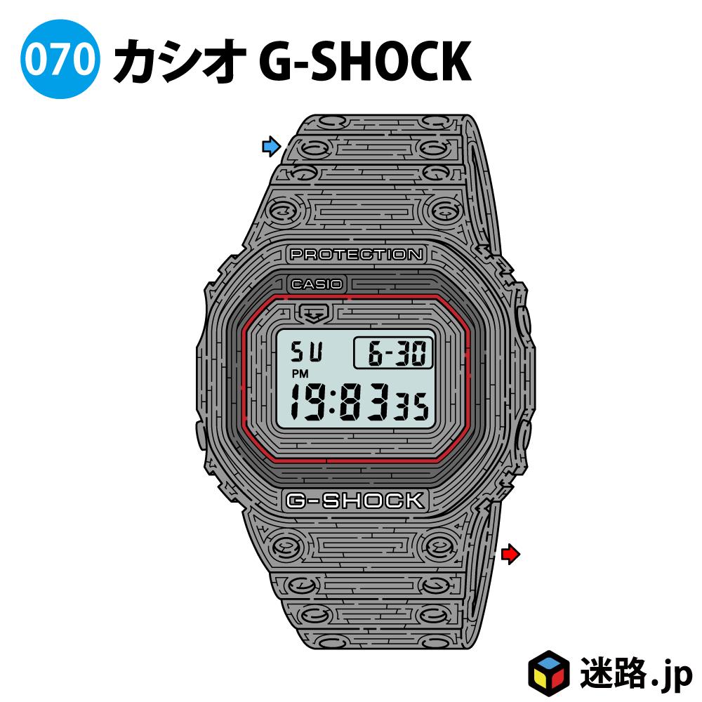 カシオ G-SHOCKの迷路